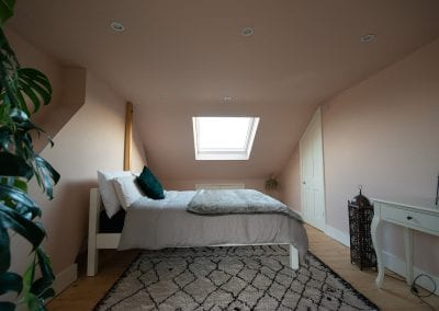 L shaped dormer into two bedrooms and en-suite at Plaistow, London