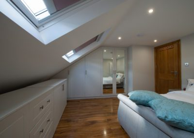Dormer loft conversion into two bedrooms and bathroom at Paistow – London E13